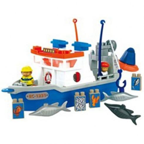 Set Ecoiffier Barca de pescuit