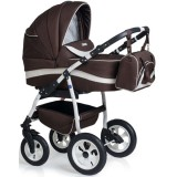 Carucior MyKids Germany 3 in 1 maro inchis crem