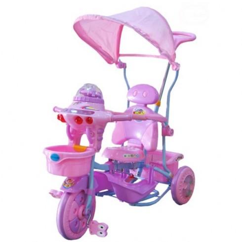 Tricicleta cu copertina Eurobaby 2890ac roz
