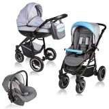 Carucior Vessanti Crooner 3 in 1 blue gray