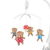 Carusel muzical Baby Mix Mushroom Bear