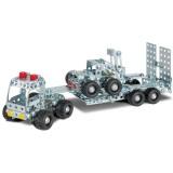 Set constructie Eitech Camion cu remorca si stivuitor