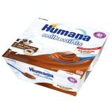 Budinca Humana cu gust de ciocolata de la 10 luni 4x100 g