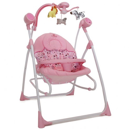 Scaunel balansoar Cangaroo Swing Star roz