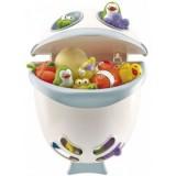 Cutie Thermobaby Bubble Fish pentru jucarii de baie si sampon celadon green