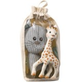 Set Jucarii Vulli pisica Lazare si girafa Sophie