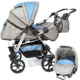 Carucior Skutt Rocada 2 in 1 grey blue