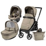 Carucior Peg Perego Black Mat Team 3 in 1 cream