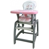 Scaun de masa Baby Mix Hello 2 in 1 pink dog