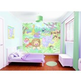 Tapet Walltastic Baby Jungle Safari