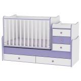 Patut transformabil Bertoni - Lorelli Maxi Plus white & violet 2015
