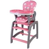 Scaun de masa Kidscare multifuncional roz