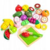 Set fructe din lemn Ecotoys 20 buc