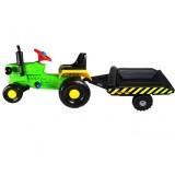 Tractor cu remorca Super Plastic Toys Turbo green
