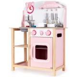 Bucatarie Ecotoys CA12009 cu sunete si accesorii roz