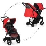 Carucior iCoo Acrobat Shop'n Drive 2 in 1 fishbone red