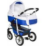 Carucior Pj Baby Pj Stroller Comfort 2 in 1 white blue