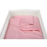 Lenjerie patut Babyneeds 3 piese roz cu stelute albe