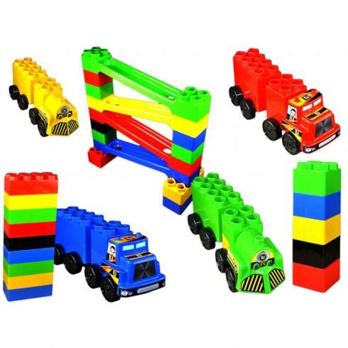Set de constructie Super Plastic Toys Car Race