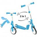 Trotineta Kidz Motion Motion 2 in 1 albastru