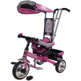 Tricicleta cu copertina Sun Baby Lux roz