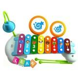 Xilofon Hola Toys cu doua tobe