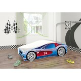 Patut tineret MyKids Race Car 02 Blue 140x70