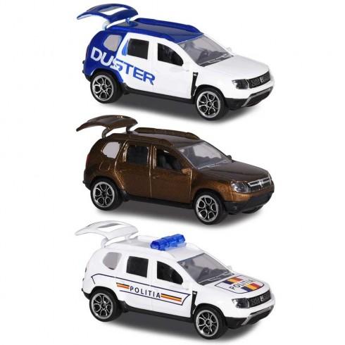 Set Majorette Dacia Duster masina alb albastru, masina maro si masina de politie {WWWWWproduct_manufacturerWWWWW}ZZZZZ]