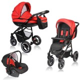 Carucior Vessanti Crooner 3 in 1 red