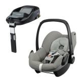 Pachet Scaun auto Maxi Cosi Pebble grey gravel cu baza auto Familyfix