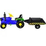 Tractor cu remorca Super Plastic Toys Turbo blue