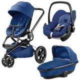 Carucior Quinny Moodd 3 in 1 blue base