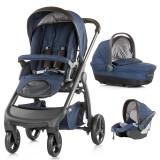 Carucior Chipolino Aura 3 in 1 blue indigo linen melange