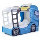 Patut camion MyKids Duo Scania+2 albastru