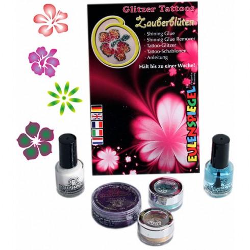 Set Eulenspiegel Tatuaje temporare Magical Flowers