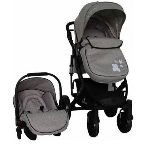 Carucior Kikkaboo Beloved 2 in 1 light grey