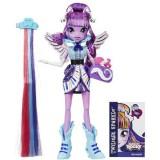 Papusa Hasbro Equestria Girls Twilight Sparkle cu accesorii de par