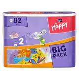Scutece Happy 2 big pack mini 82 buc pentru 3-6 kg