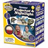 Proiector Brainstorm Toys cu dinozauri si lampa de veghe
