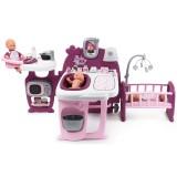 Centru de ingrijire pentru papusi Smoby Baby Nurse Doll`s Play Center mov cu 23 accesorii {WWWWWproduct_manufacturerWWWWW}ZZZZZ]