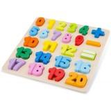 Puzzle din lemn New Classic Toys Numere