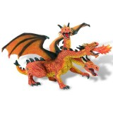 Figurina Bullyland Dragon cu 3 capete orange