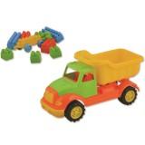 Masinuta Ucar Toys Autobasculanta cu 36 piese constructie 30 cm