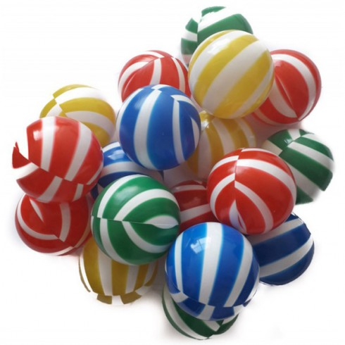 Set 100 bile Super Plastic Toys Colour Stripes