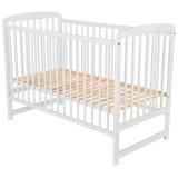 Patut copii din lemn Babyneeds Ola 120x60 cm alb