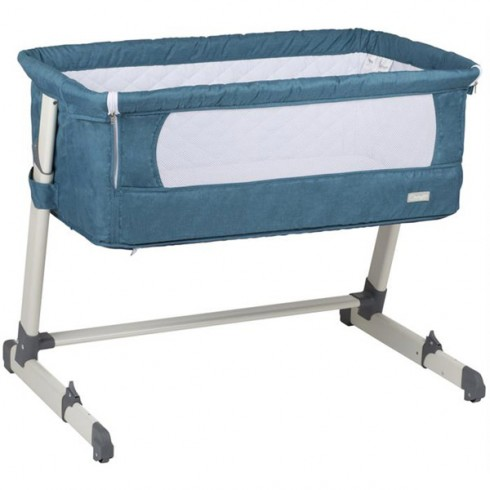 Cos BabyGo Co-sleeper Together 2 in 1 turquoise blue