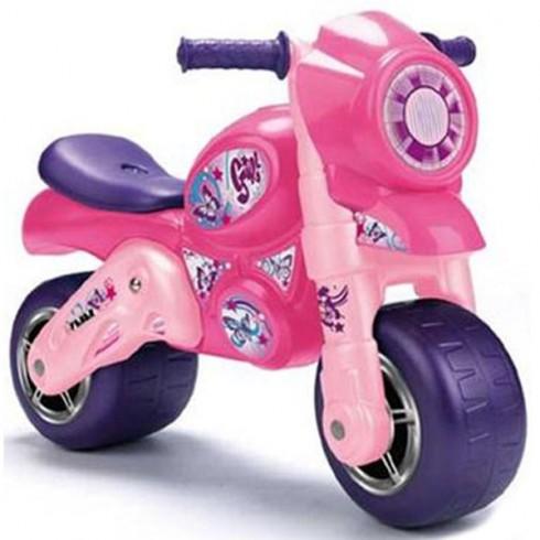 Motocicleta Feber cu casca roz