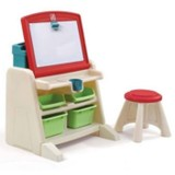 Birou de arta Step2 Flip & Doodle Easel Desk