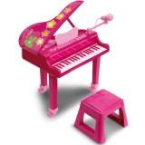 Pian electronic Bontempi I Girl cu microfon si scaun