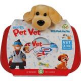 Set trusa veterinar Ucar Toys cu catelus de plus